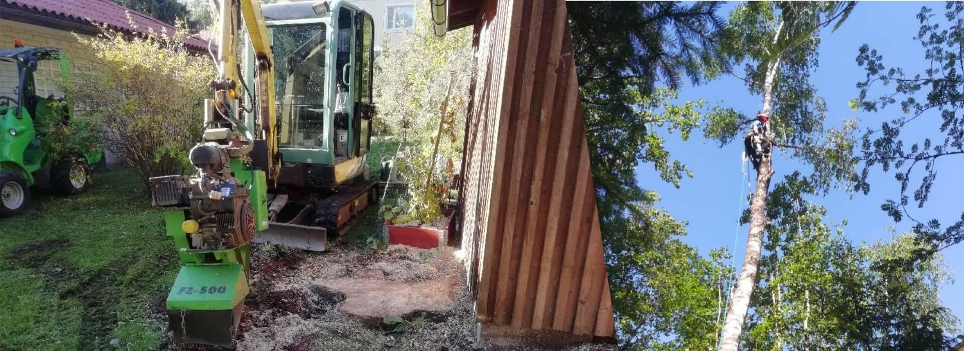 Puunkaatoa ja rakentamista ammattitaidolla Kirkkonummelta